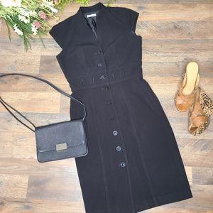 Calvin Klein • Black Button-Down Dress